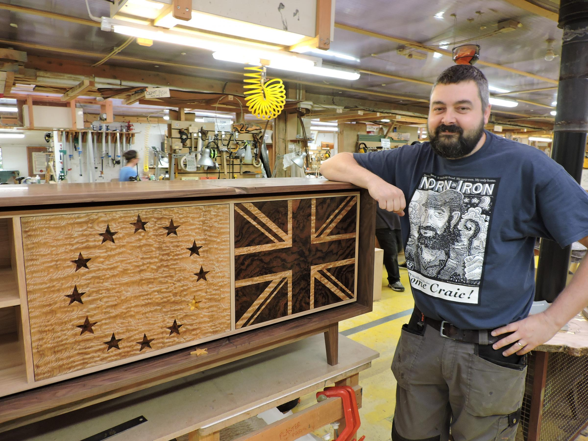 Furniture student creates 'Strong and Stable Brexit Cabinet'